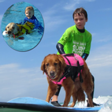 SURFice dog® surfs with special needs kids