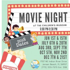 Things to do in Martin County-Port St Lucie, FL for Kids: Movie Nights at the Museum - First Friday (Ages 4-12), The Children's Museum of the Treasure Coast