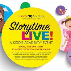 Things to do in Vancouver, WA for Kids: Storytime LIVE! Hang Out with Curious George and Pinkalicious, Kiddie Academy of Vancouver - Fishers Landing
