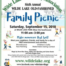 Things to do in Laurel-Columbia, MD for Kids: Wilde Lake Old-Fashioned Family Picnic, Wilde Lake Community Association