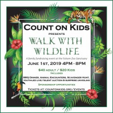 Folsom-EDH, CA Events for Kids: Walk with Wildlife - Family Fundraiser at Folsom Zoo