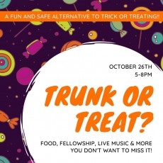 Trunk or Treat- A safe and fun alternative