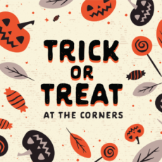 Trick-or-Treat at the Corners