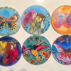 Folsom-EDH, CA Events for Kids: Silk Ornament Window Catchers - Paint your own!