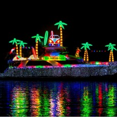 Fort Myers, FL Events for Kids: 31st Annual Fort Myers Beach Christmas Boat Parade