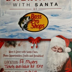 Fort Myers, FL Events for Kids: Breakfast with Santa at Bass Pro
