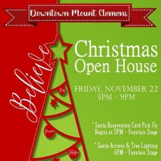 Downtown Mount Clemens Christmas Open House & Tree Lighting