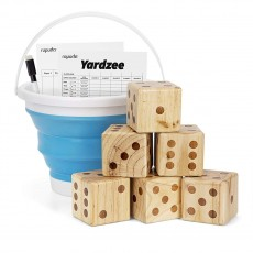 Giant Wooden Yard Dice Set for Outdoor Fun