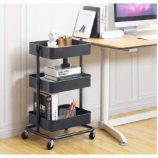 Rolling Utility Cart with Adjustable Shelves