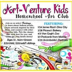 Art-Venture Kids Homeschool Art Club