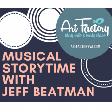 Things to do in Richmond South, VA for Kids: Musical Storytime with Jeff Beatman, Art Factory Play Cafe & Party Place