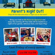Fort Myers, FL Events for Kids: Parent's Night Out at We Rock The Spectrum