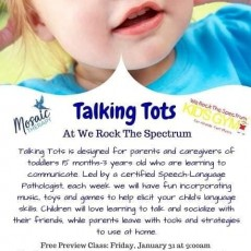 Fort Myers, FL Events for Kids: Talking Tots at We Rock The Spectrum - FREE preview class!