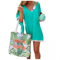 Pom Pom Trim Beach Cover Up