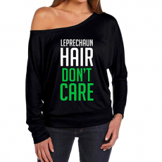 Women's St Patricks Day Long Sleeve Off Shoulder Shirt