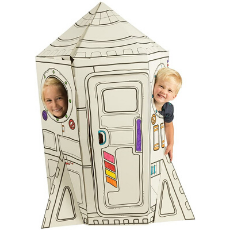 Cardboard Playhouse for Kids to Color