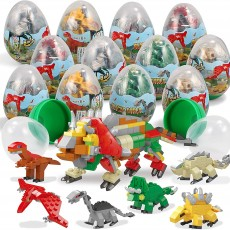 Pre Filled Easter Eggs with Dinosaur Building Blocks