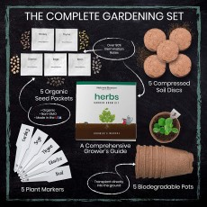 Kitchen Herb Garden Indoor Seed Starter Kit