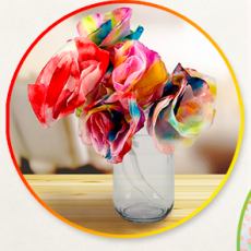 Wilmington, NC Events for Kids: Tie Dye Coffee Filter Flowers & DIY Pattern Paint Rollers