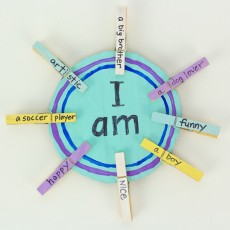 Camp Creativity: All About Me Sign