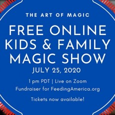 The Art of Magic: Free Virtual Online Family and Kids Magic Show