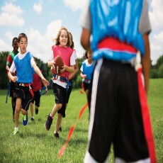 Play fall baseball, flag football, basketball, soccer, TaeKwonDo | Ages 4-14