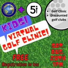 Westfield-Clark, NJ Events for Kids: Free Kids Virtual Golf Clinic