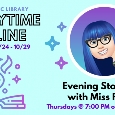 Beverly-Newburyport, MA Events: (Virtual) Evening Storytime with Miss Felicia