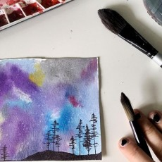 Worcester, MA Events for Kids: Galaxy Watercolor Painting: Outdoor Art Class