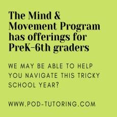 Mind + Movement Program (Ages 4 - 12)