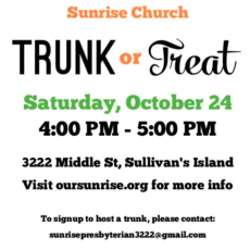Things to do in Charleston, SC for Kids: Sunrise Church Trunk or Treat, Sunrise Church