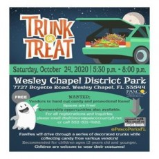 Trunk or Treat at Wesley Chapel District Park