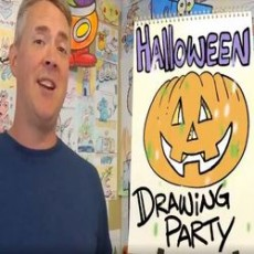 Drawing Halloween Party with Steve Harpster