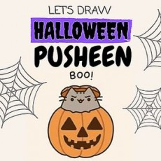 Learn to Draw Halloween Pusheen
