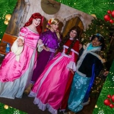Things to do in Southern Monmouth, NJ for Kids: Virtual Princess Christmas Caroling, Ice Queen Cosplay Princess Parties