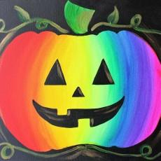 In-Studio Paint Class - Rainbow Jack-O-Lantern