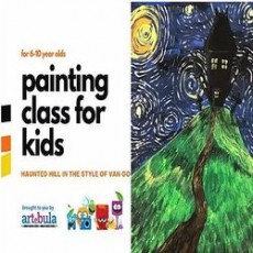 Halloween Inspired Painting Class for Kids