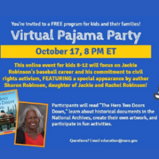 Things to do in Hulafrog at Home: Virtual Pajama Party: All About Jackie Robinson