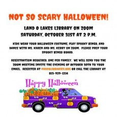 Things to do in Wesley Chapel-Lutz, FL for Kids: Not So Scary Halloween, Land O' Lakes Branch Library