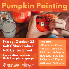 Things to do in Bowling Green, KY: Pumpkin Painting
