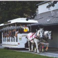 Halloween Ghost Trolley and Haunted Barn