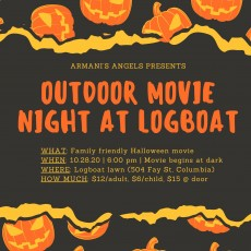 Outdoor Movie at Logboat