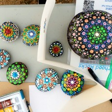 Things to do in Worcester, MA: Meditative Mandala Dot Rock Painting