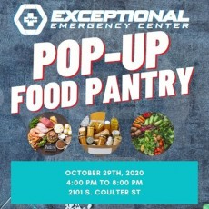 Exceptional Emergency Center 2020 Pop-Up Food Pantry