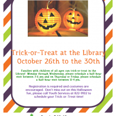 Things to do in Warwick, RI: Trick-or-Treat at the Library