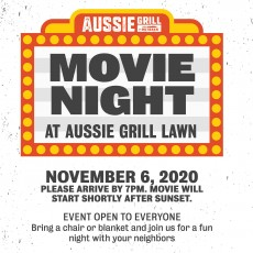 Movie Night at Aussie Grill Lawn