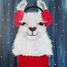 In-Studio Paint Class - A Llama in a Turtleneck