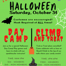 Things to do in Main Line, Pa: Halloween Day Camp at Reach Climbing