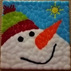 Things to do in Olathe, KS: DIY Clay Fused Glass Snowman Plate {Ages 7 - Adult}
