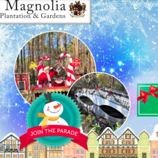 Things to do in Charleston, SC for Kids: Holiday Parade @ Magnolia, Magnolia Plantation and Gardens